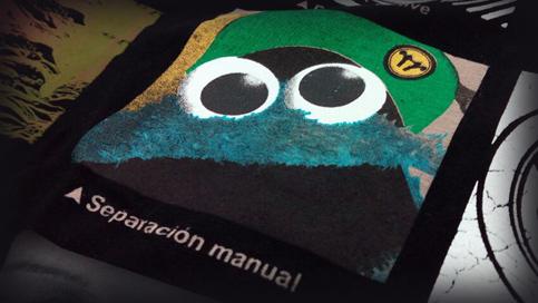 Impresión de camisetas Separación manual